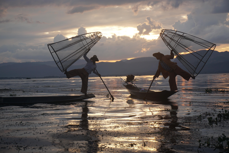 """""""Pescadores"""" en el Lago Inle"""
