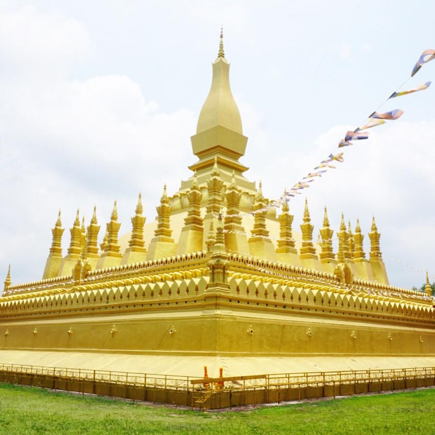 Pha That Luang en Vientiane, Laos