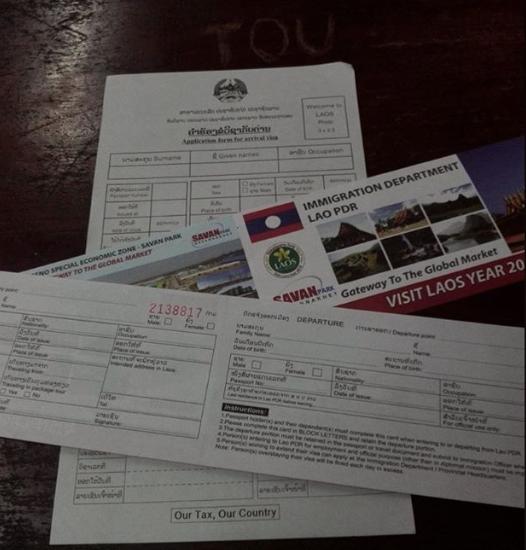 Formularios de inmigración para tramitar tu visado a Laos